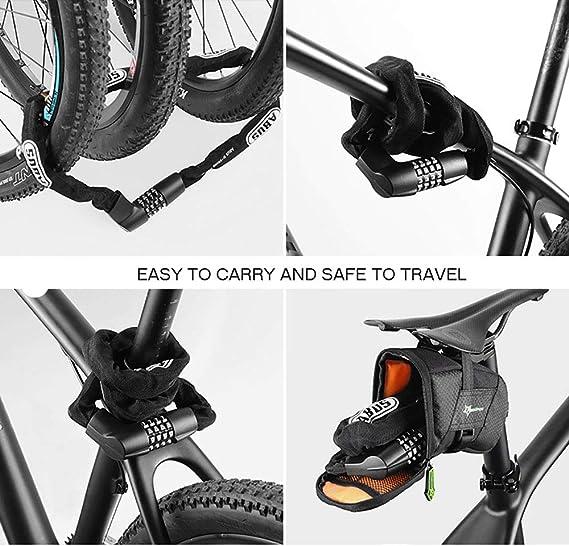 ACCDUER Cadena de Bloqueo para Bicicleta, combinación reiniciable ...