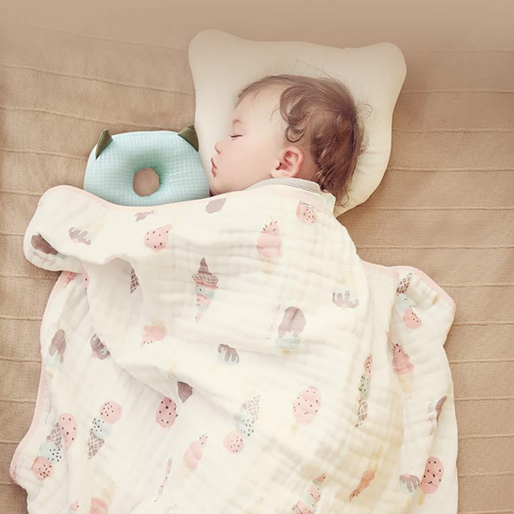 Bebamour Baby-Kopfschutz Weiches und atmungsaktives Baby-Kopfst/ützkissen Kopfst/ützkissen gegen Absturz Gr/ün