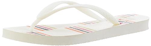Reef Escape, Sandalias Para Mujer, Multicolor (Cream Stripes), 35 EU