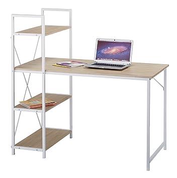 Cherrytree Furniture 4 Tier Shelves Computer Desk Home Office Study