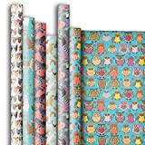 Jillson Roberts 6 Roll-Count All-Occasion Gift Wrap Available in 14 Different Assortments, Birds and Animals