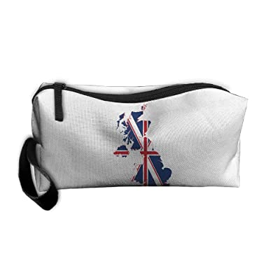 Flag Map Of The United Kingdom Pattern Makeup Bag Calico Girl Women Travel Portable Cosmetic Bag Sewing Kit Stationery Bags Feature Storage Pouch Bag Multi-function Bag