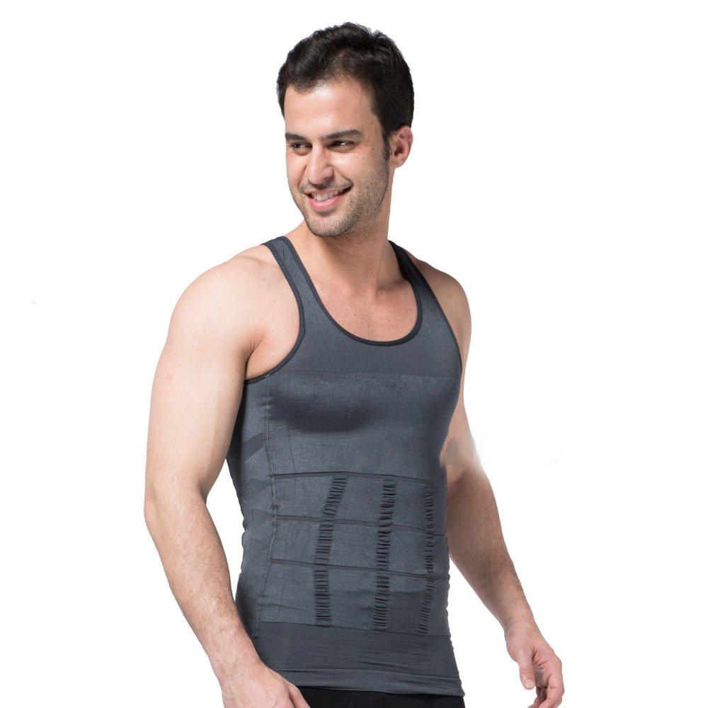 YXLONG Camicia Snellente Che Modella Gli Uomini - Camicie A Compressione Per Ridurre L'addome E Il Seno, La Postura Eretta E La Camminata Maschile