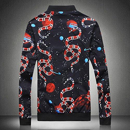 la código en hombres China chaqueta sello de ocio del chaquetas chaqueta casual un versión coreana hombres XXL gran black Los viento de w0vPZW