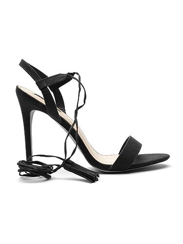 1e4cd70725d Forever 21 Women Black Stilettos (8UK): Buy Online at Low Prices in ...