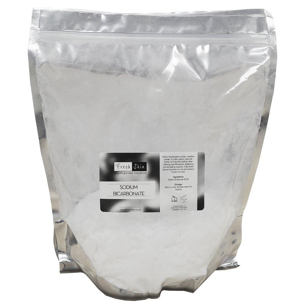freshskin beauty ltd 1kg Sodium Bicarbonate of Soda - 100% BP/Food Grade - Great for Bath Bombs!