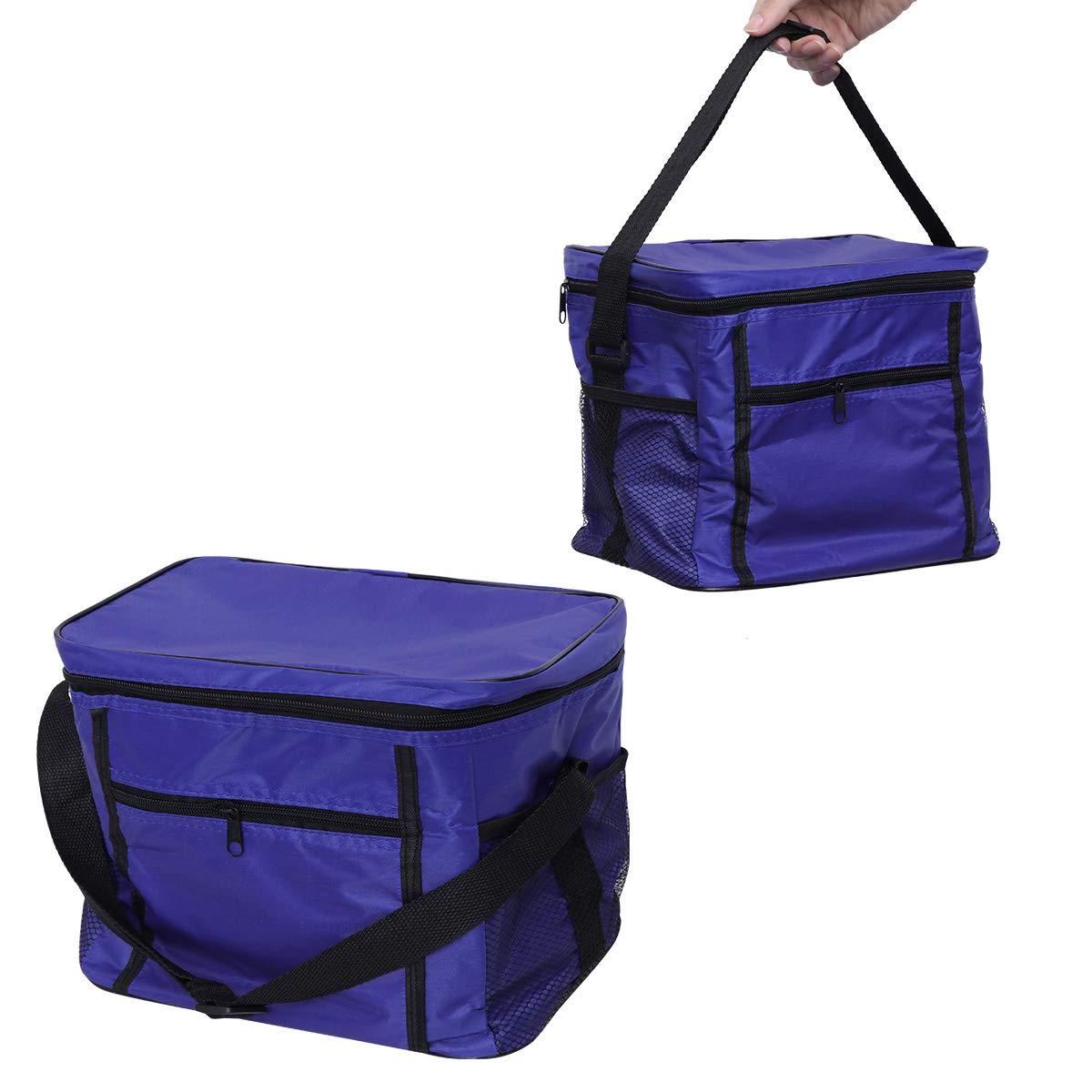 LIOOBO Foldable Travel Oxford Cloth Ice Pack Insulated Cooler Bag