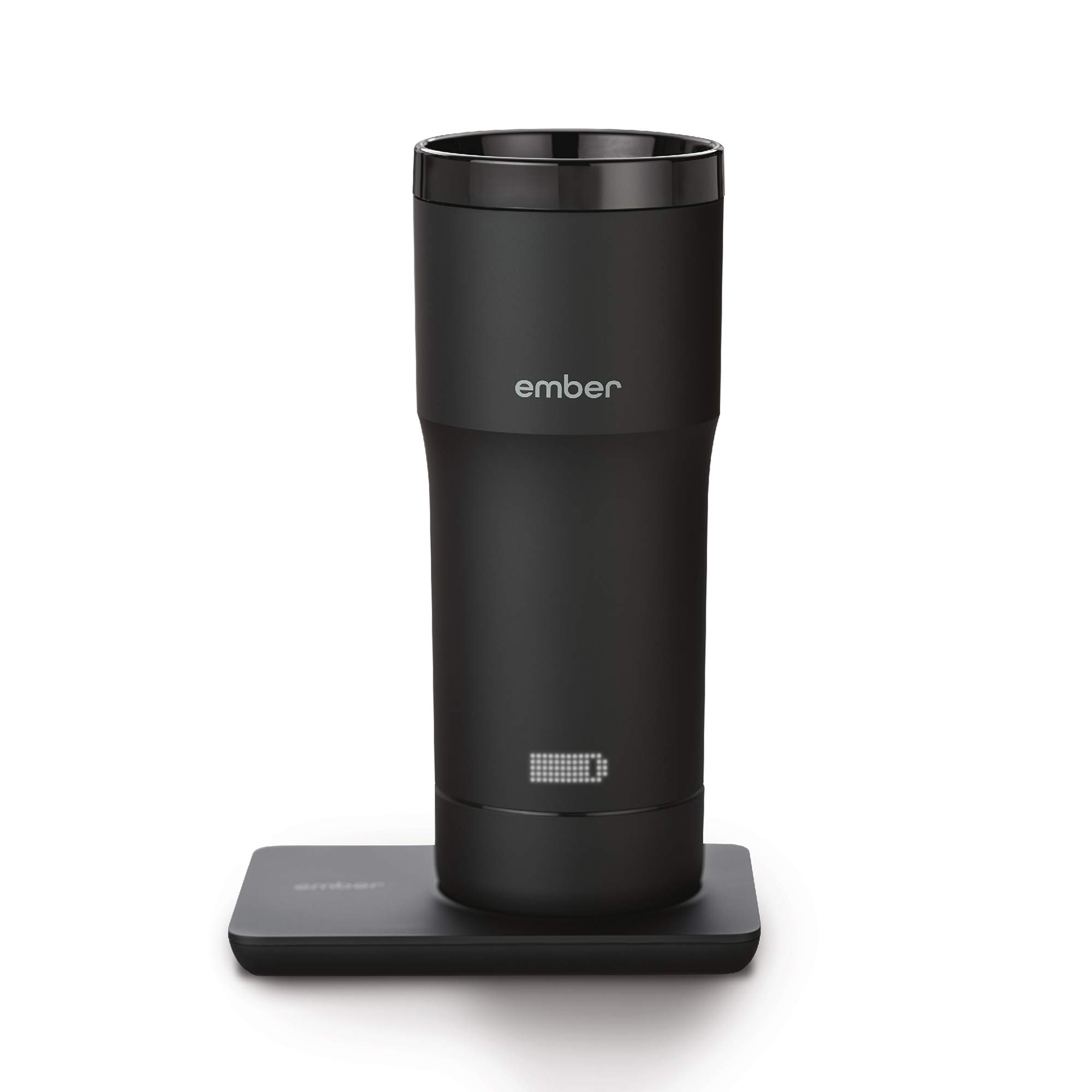 Ember Temperature Control Travel Mug, 12 Ounce, 2-hr Battery Life, Black - App Controlled Heated Coffee Travel Mug by Ember