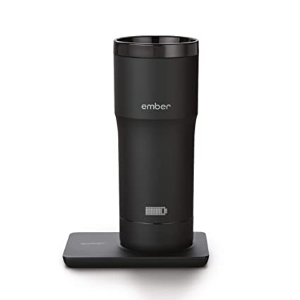 Ember Temperature-Control Smart Mug, 12 oz, 2-hr Battery Life, Black -  App-Controlled Heated Coffee Travel Mug