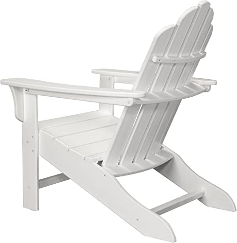 Hanover Outdoor Furniture HVLNA10WH All Weather Contoured Adirondack Chair, White