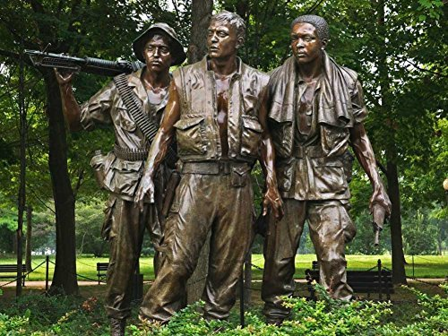(Washington Dc Vietnam Veterans Memorial The Three Soldiers -Oil Painting On Canvas Modern Wall Art Pictures For Home Decoration Wooden Framed (12X16 Inch, Framed))