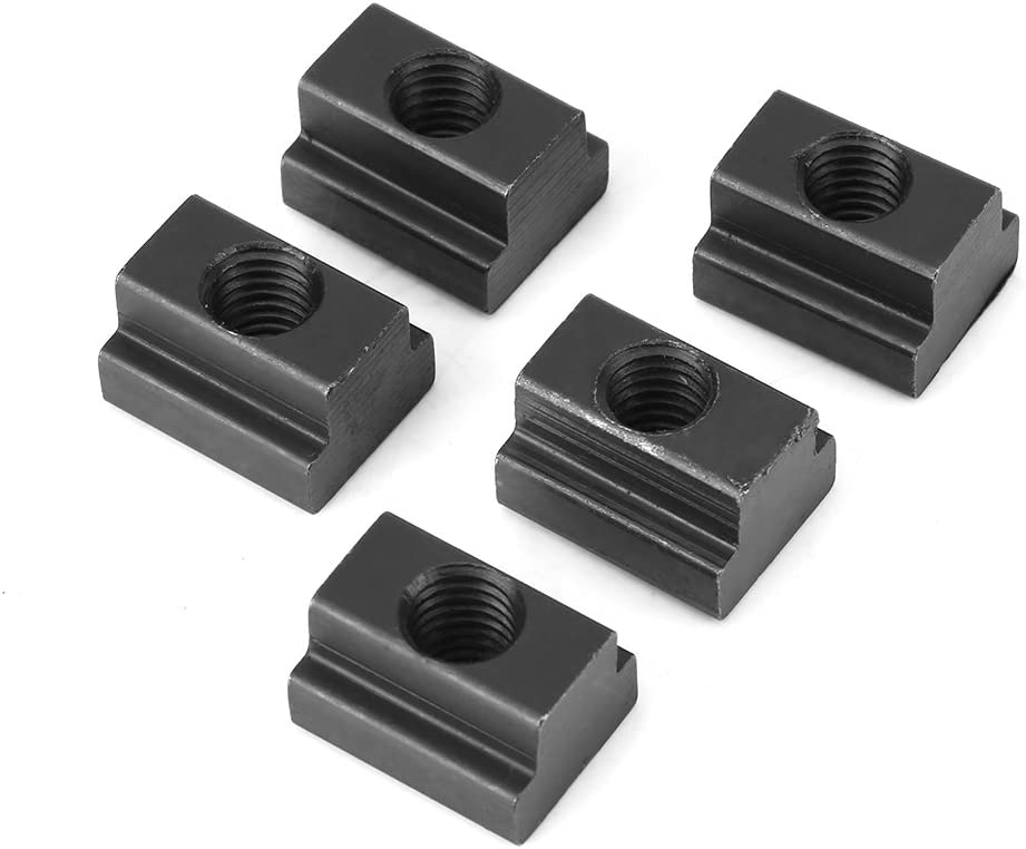 M10 SOONHUA 5 pcs Black Oxide Finish T Slot Nuts Threads Fit Into T-Slots in Machine Tool Tables