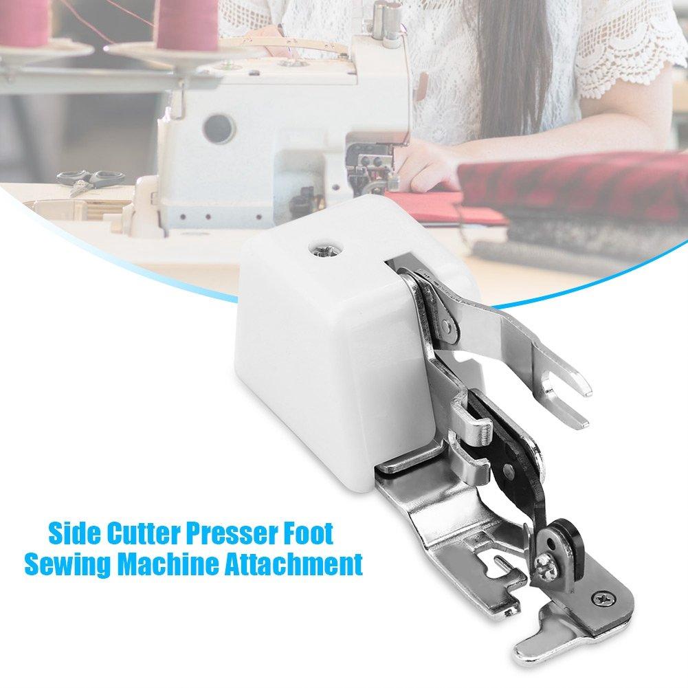 Piezas de Máquinas de Coser Cortadora Lateral Pie Prensatelas Máquina de Coser Accesorio: Amazon.es: Hogar