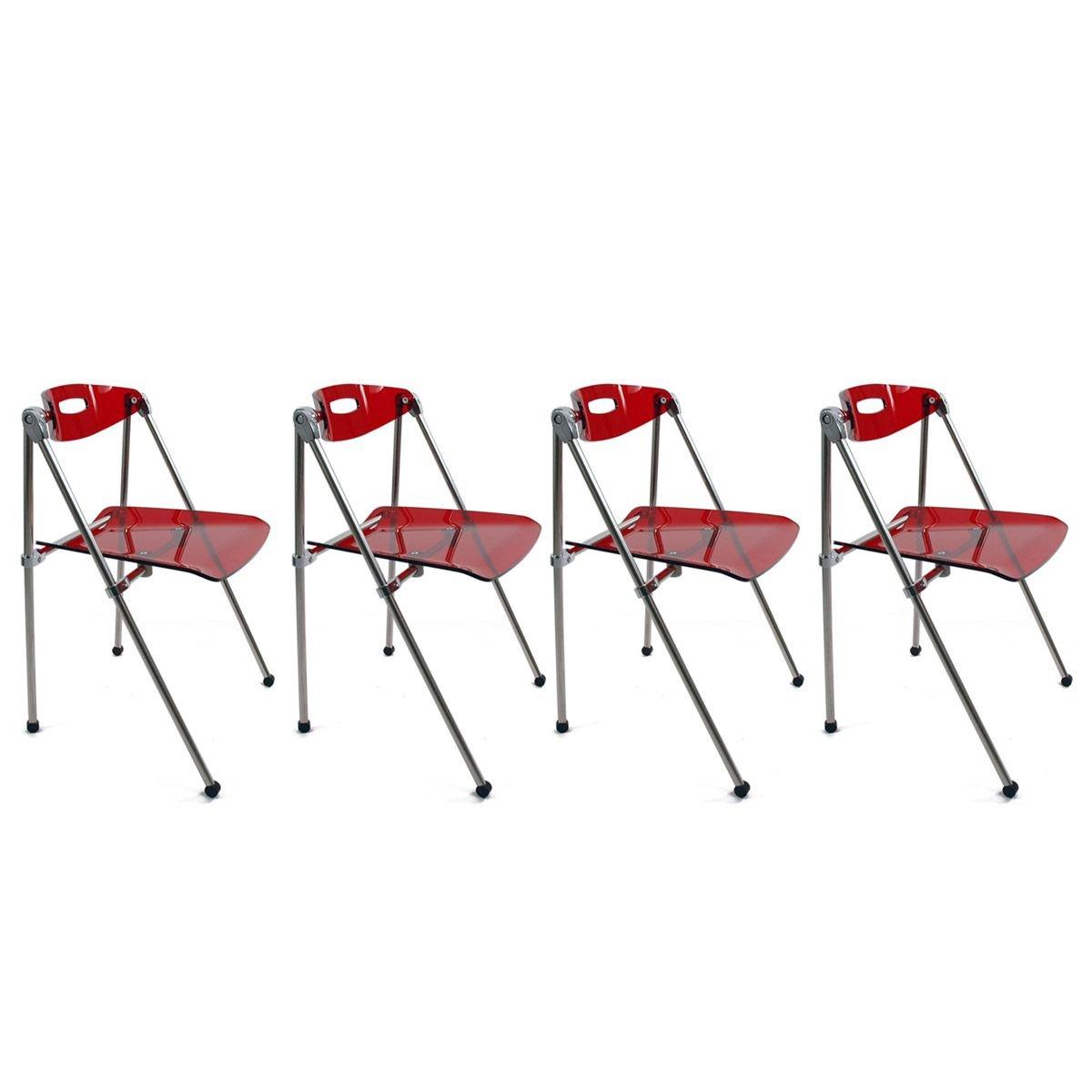 Miliboo - Lote de 4 sillas plegables Julie de diseño color ...