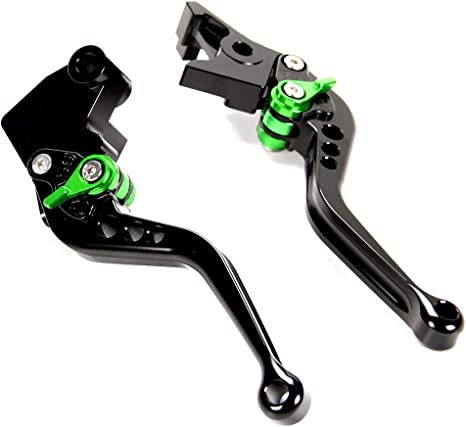 Short Brake Clutch Levers for Kawasaki ZX6R/636/Z1000 2007-2016, Z750R 2011-2012, ZX10R 2006-2015, Z1000SX/NINJA 1000/Tourer 2011-2016
