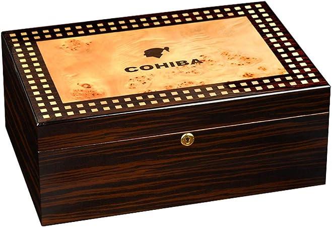 Humidores de cigarros Caja de cigarros, Caja de cigarros Humidor de Madera de Cedro español Humidor de cigarros Humedad Constante cigarro (Color : A): Amazon.es: Hogar