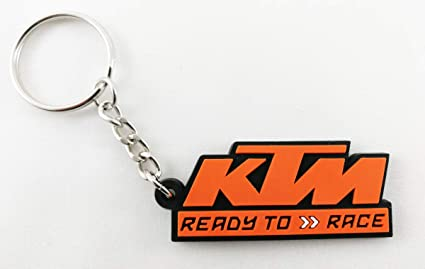 KTM Keychain Ready to Race Logo Rubber New