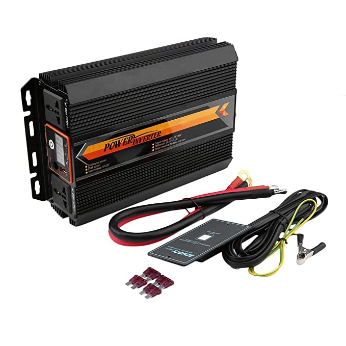 Convertidor, inversor de potencia con pantalla LCD, para uso en ...