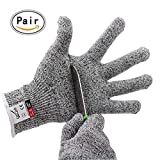 CHYDA Cut Resistant Gloves High Performance Level 5 Protection Food Grade Certified Kitchen and Work Safety Lightweight Breathable Size Large
