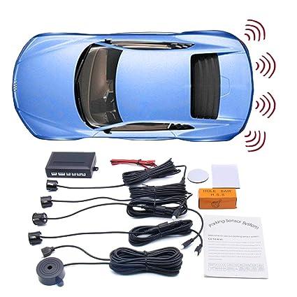 Amazon com: WINAUTO Car Backup Radar Sound Alert + 4 Parking Sensors