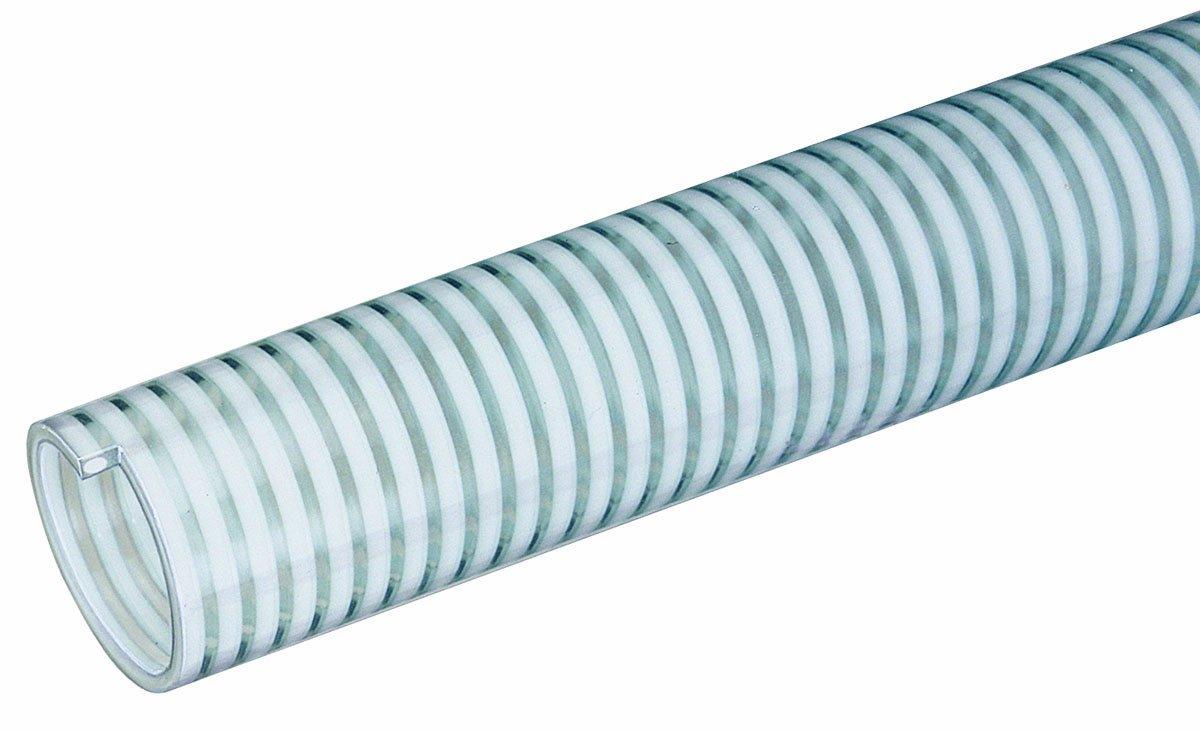 Tigerflex Milk Series Food Grade PVC Liquid Suction Hose, 75 PSI Max Pressure, 2 inches ID, 100 feet Length