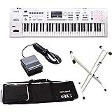 Roland FA-06-SC シンセサイザー 限定ホワイト 61鍵盤 ベーシックセット (ホワイトカラースタンド + ペダル) 初心者セット ローランド