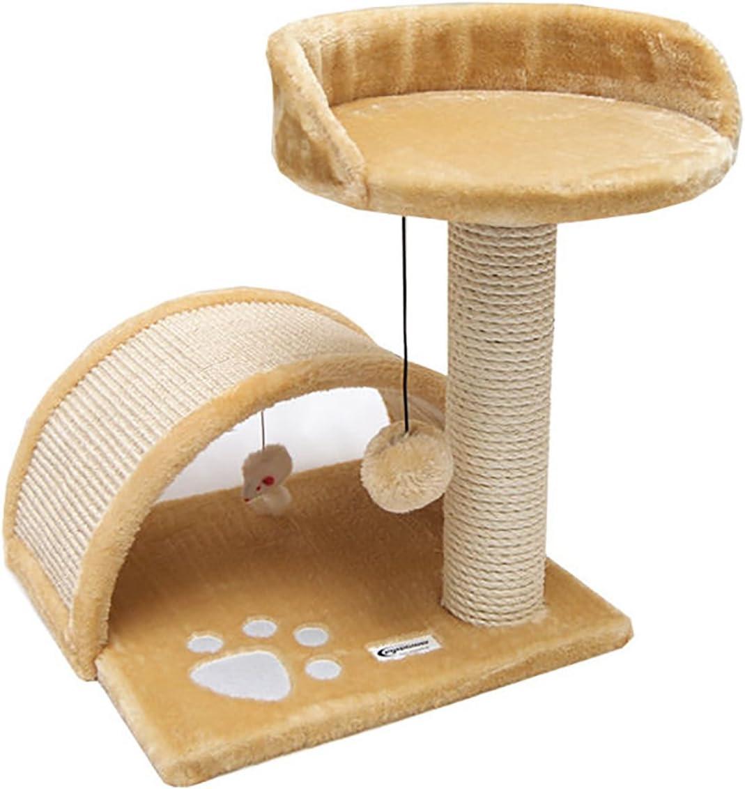 Rascador para gatos Cindy de Eyepower, 44 cm, sisal con tablero ...