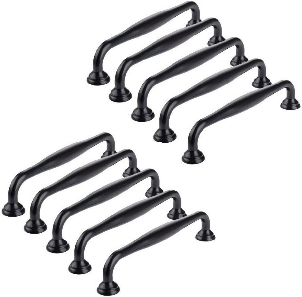 Ebeta 10 x Tiradores de muebles Tiradores de puerta Tiradores de arco Perillas de muebles Perilla de muebles de cerámica Tiradores de armarios Negro: Amazon.es: Hogar