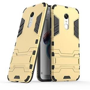 Xiaomi Redmi 5 Plus Custodia, CaseFirst Hybrid Cover antiurto Combo Armor Bumper Protettiva Anti-impronte Anti-scivolo 2 in 1 Rigida Custodia per Xiaomi Redmi 5 Plus (D'Oro)