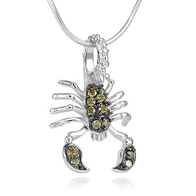 Sterling Silver Scorpio (The Scorpion) Pendant Necklace & 18