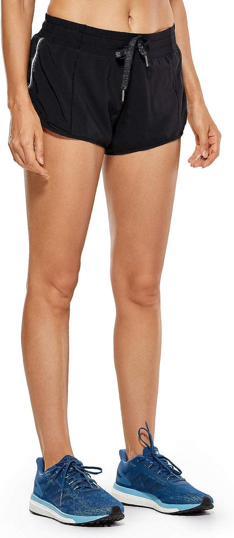 TALLA XL(46). CRZ YOGA Pantalones Cortos Running Mujer con Bolsillo Trasero para Gimnasio-6cm