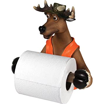 Amazon.com: Rivers Edge Products Cute Deer Toilet Paper Holder ...