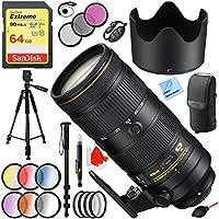 Nikon AF-S NIKKOR 70-200mm f/2.8E FL ED VR Zoom Lens (20063) with 77mm Filter Sets Plus 64GB Accessories Bundle