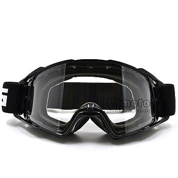 BJ Global - Gafas para motocicleta (lente transparente, para motocross, unisex)