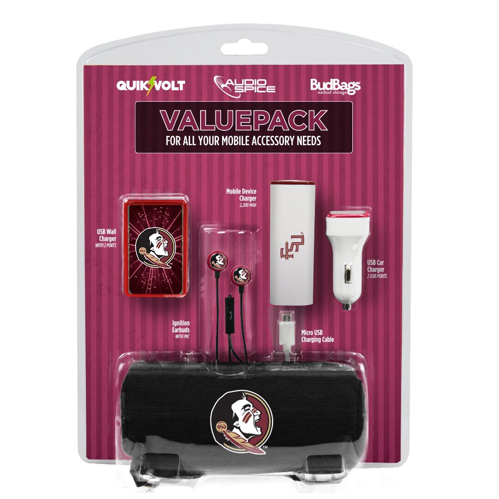 NCAA Florida State Seminoles Mobile Accessory Value Pack, , White