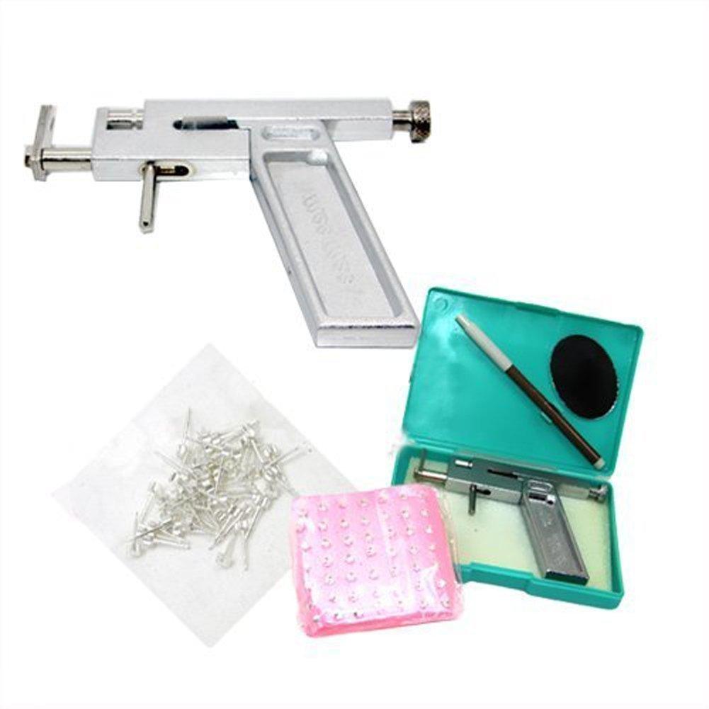 Butterme oreille Piercing Gun Pistolet Aiguille piercing oreille nez avec + 49 paire de kit Studs composent la machine-outil ZUMUii ZT00433