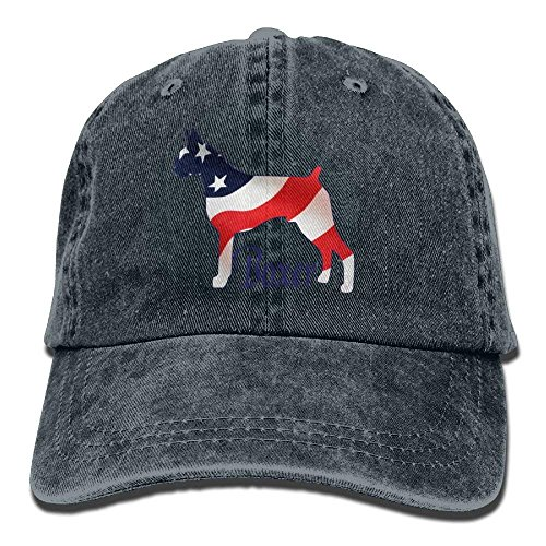 Walnut Cake Gorras béisbol American Flag Boxer Dog Denim Hat Adjustable Womens Fitted Baseball Caps