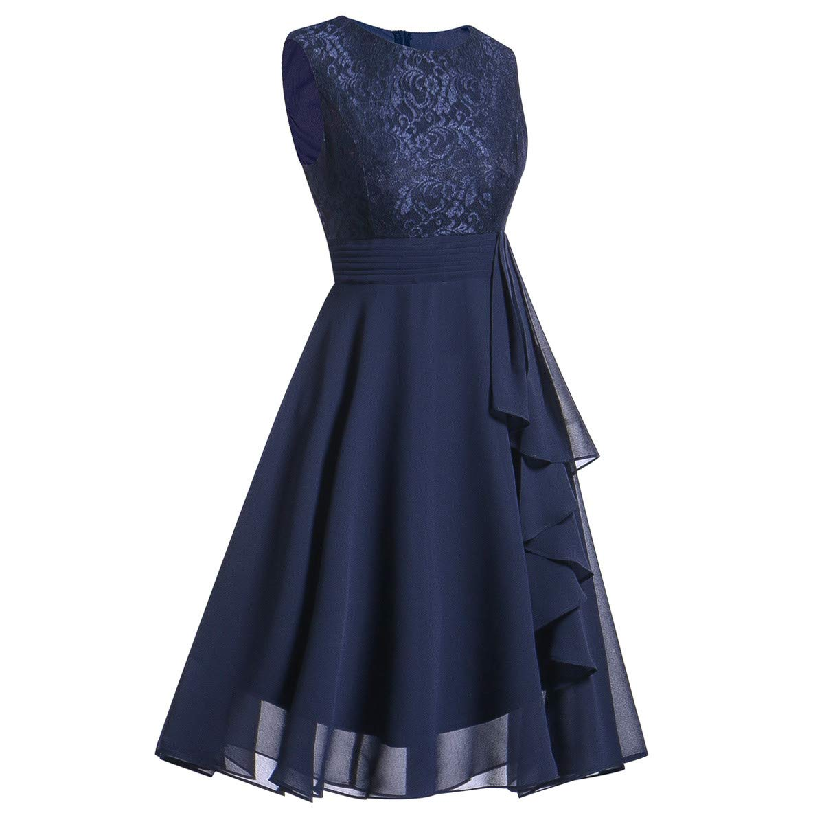 Rambling Women Lace Long Dress,Ladies Sleeveless Formal Wedding Bridesmaid Dress