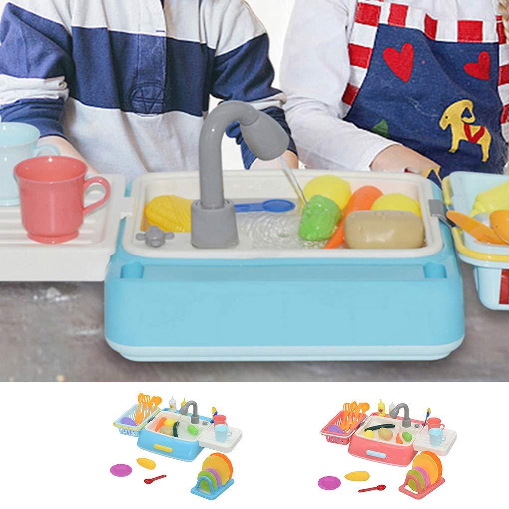 mailfourn Fregadero de Cocina Juguetes Kit de Limpieza de los ni/ños de simulaci/ón de Cocina Lavavajillas Fregadero Juego de imaginaci/ón Regalos Juguetes