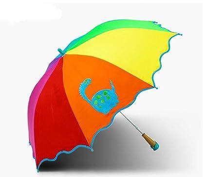 Sombrilla THUNFER Paraguas Infantil Protección Solar Protección Anti UV Plegable Portátil,D