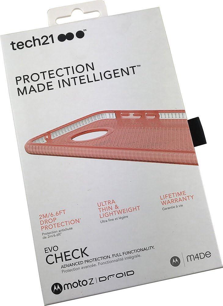 Tech21 Evo Check Advanced Protection Case for Moto Z Droid - Pink/White