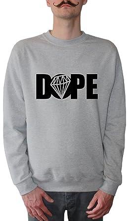 Mister Merchandise Sudadera para Hombre Dope Diamond Diamant Suéter Sweater, Tamaño: XXL, Color: Gris: Amazon.es: Ropa y accesorios