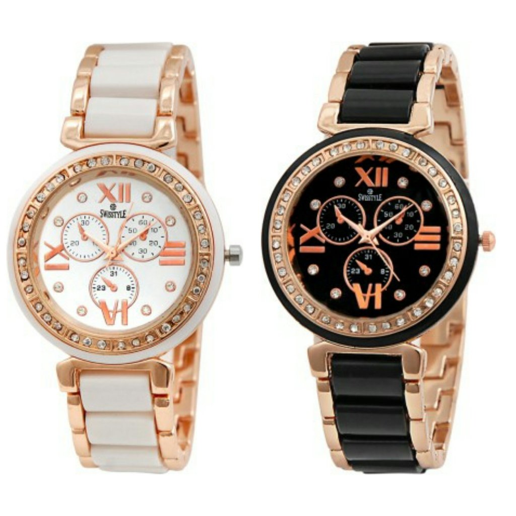 Swisstyle Analogue Womens Watches - Pack of 2