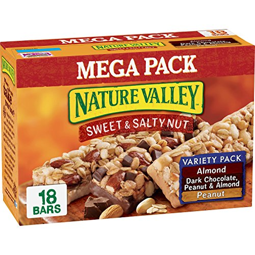Nature Valley Peanut, Almond, Dark Chocolate, Sweet & Salty Bar Variety Pack, 18 bars, 22.32 oz -