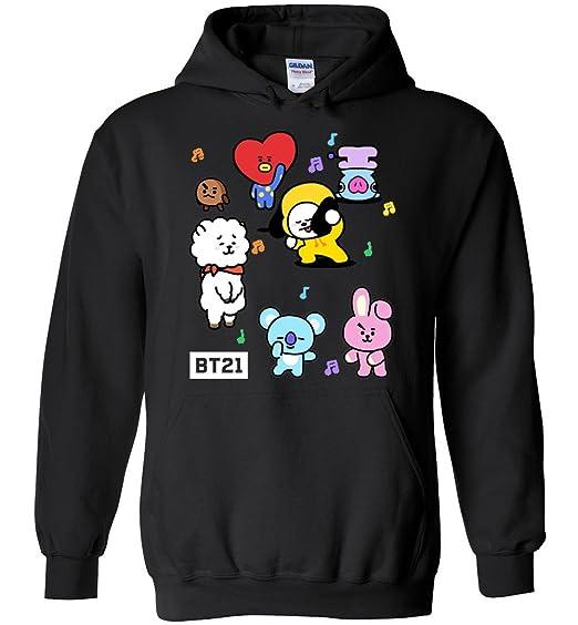 The Incredible BTS Funny Dancing BT21 Hoodie Koya RJ Shooky Mang Chimmy  Tata Cooky Van