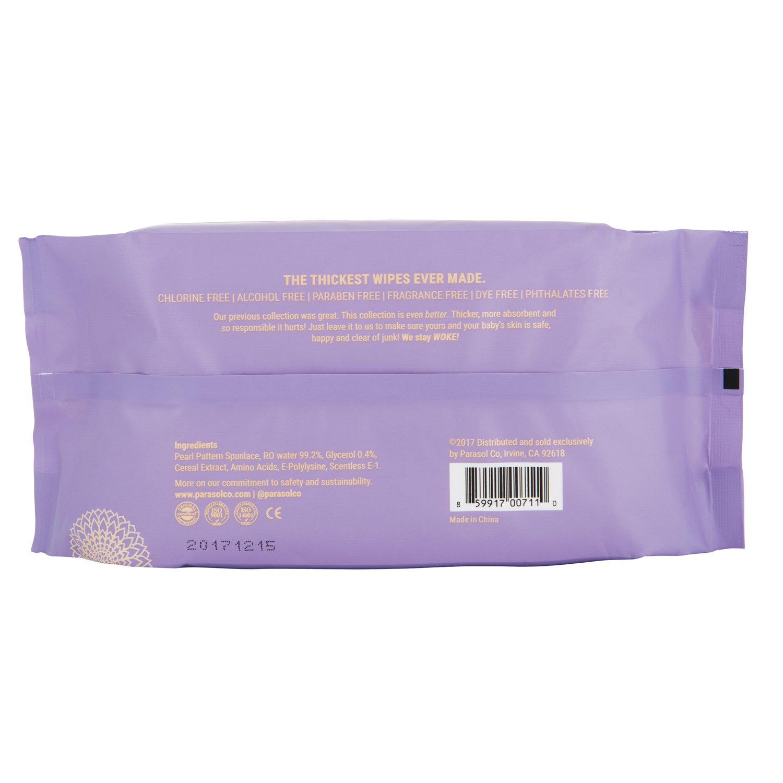 Parasol Toallitas húmedas para bebés, hipoalergénico, libre de cloro, la piel sensible segura, ultra suave, ultra fuerte - Calidad Premium, gruesa, ...
