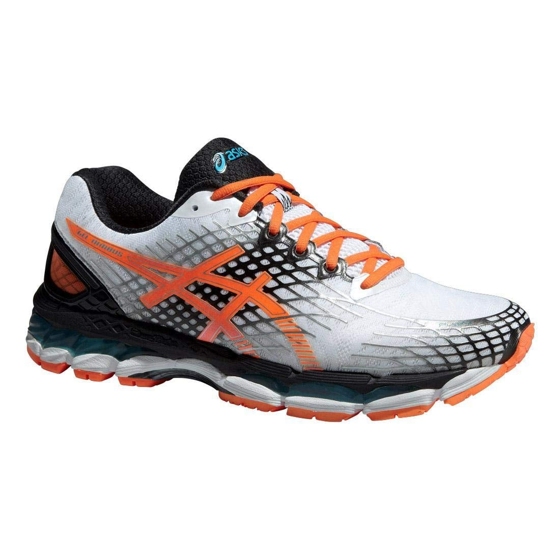 differently d2b86 be09e ASICS Gel-Nimbus 17 Men's Running Shoes White Flash Orange ...