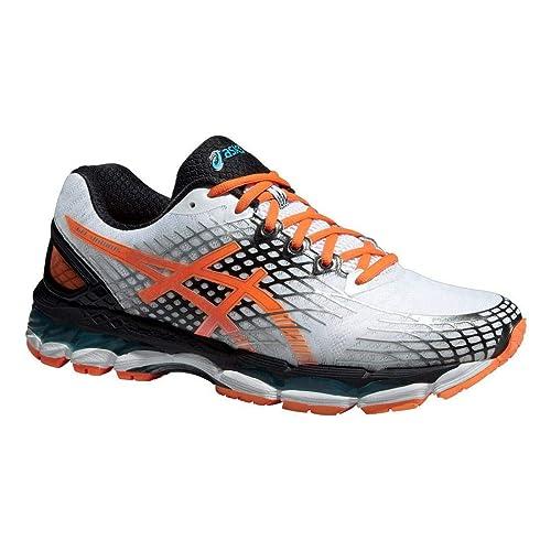 a8961836b69 ASICS Gel-Nimbus 17 Men s Running Shoes White Flash Orange