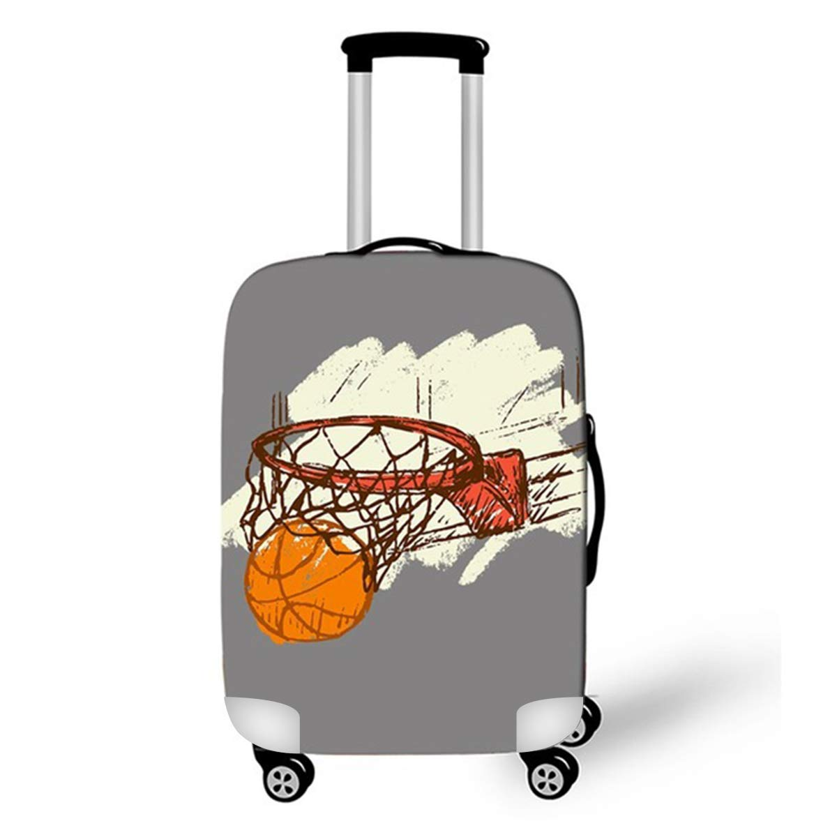 M Basketball3 OSVINO Basketball Pattern Suitcase Cover Baggage Luggage Protector 18-28 Inches for 22-24 Suitcase
