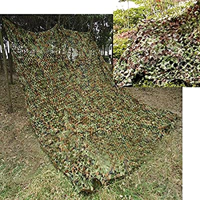 Lightweight Camouflage Camo Net,TechCode 2m x 3m Camo Netting for Army Shooting Camping Military Hunting Hide Woodlands Jungle, White, Desert, Camo Tape